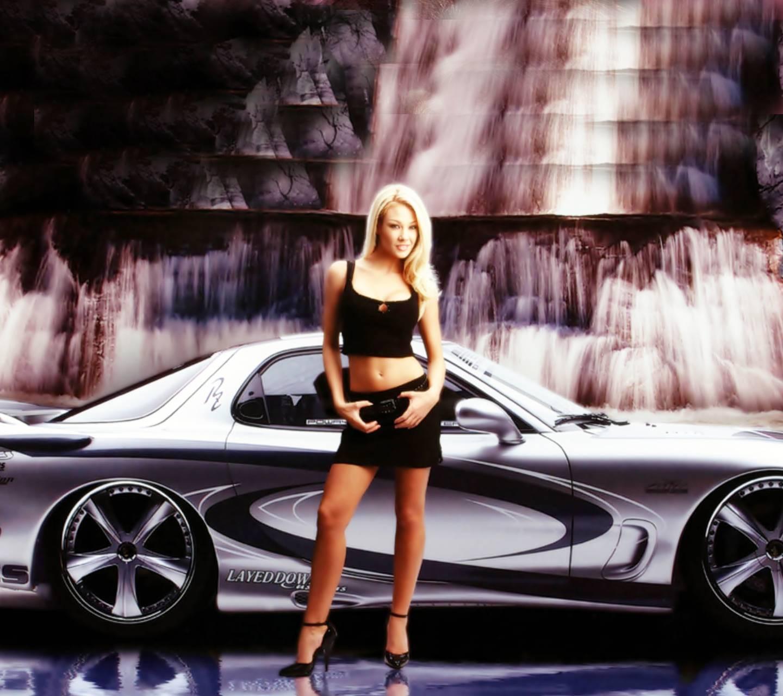 Girl With Racing Car