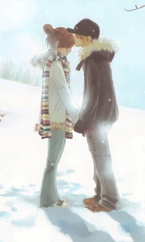 Lovers In Snow
