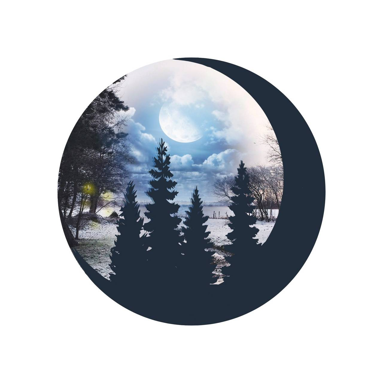 Moon Light Trees