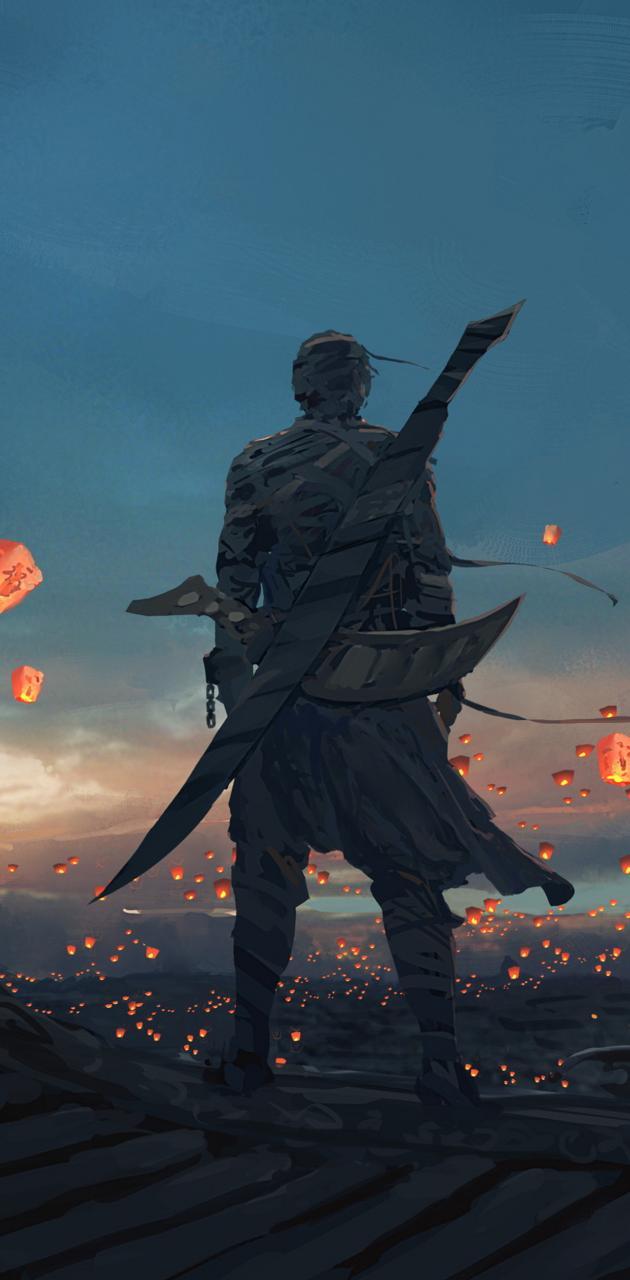 Warrior and Lanterns