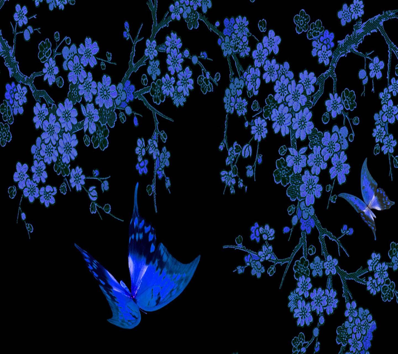 Blue Floral  Flowers