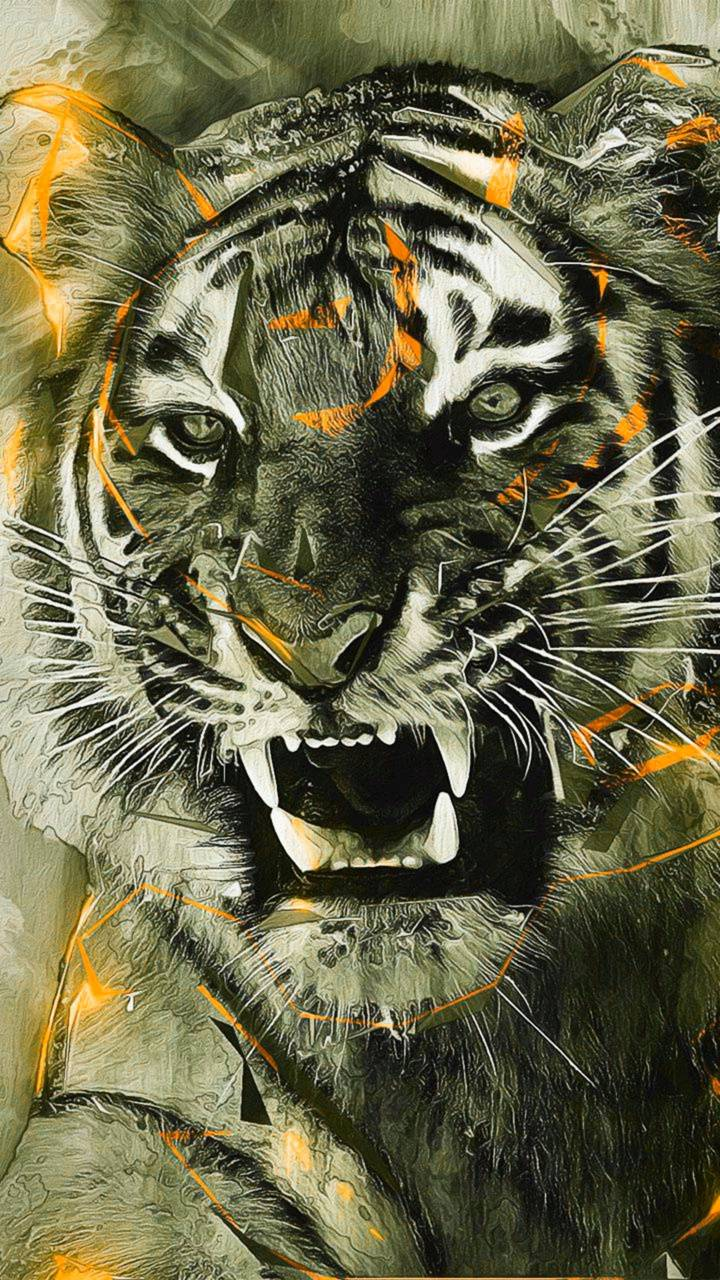 Angry Tiger Wallpaper By Georgekev F6 Free On Zedge