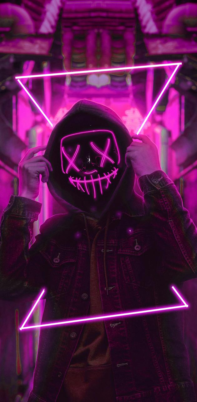 mask neon purple