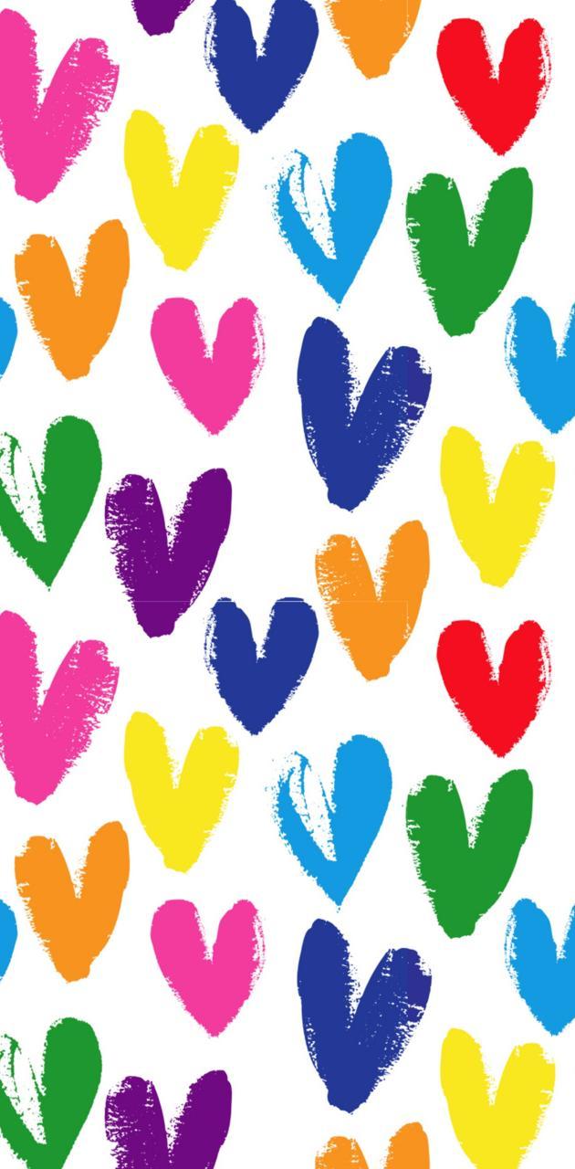 Corazones coloridos