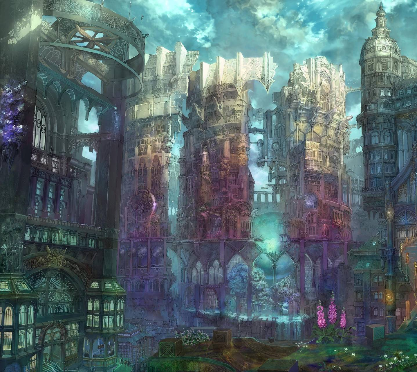 Anime City Wallpaper By JD_Bowers
