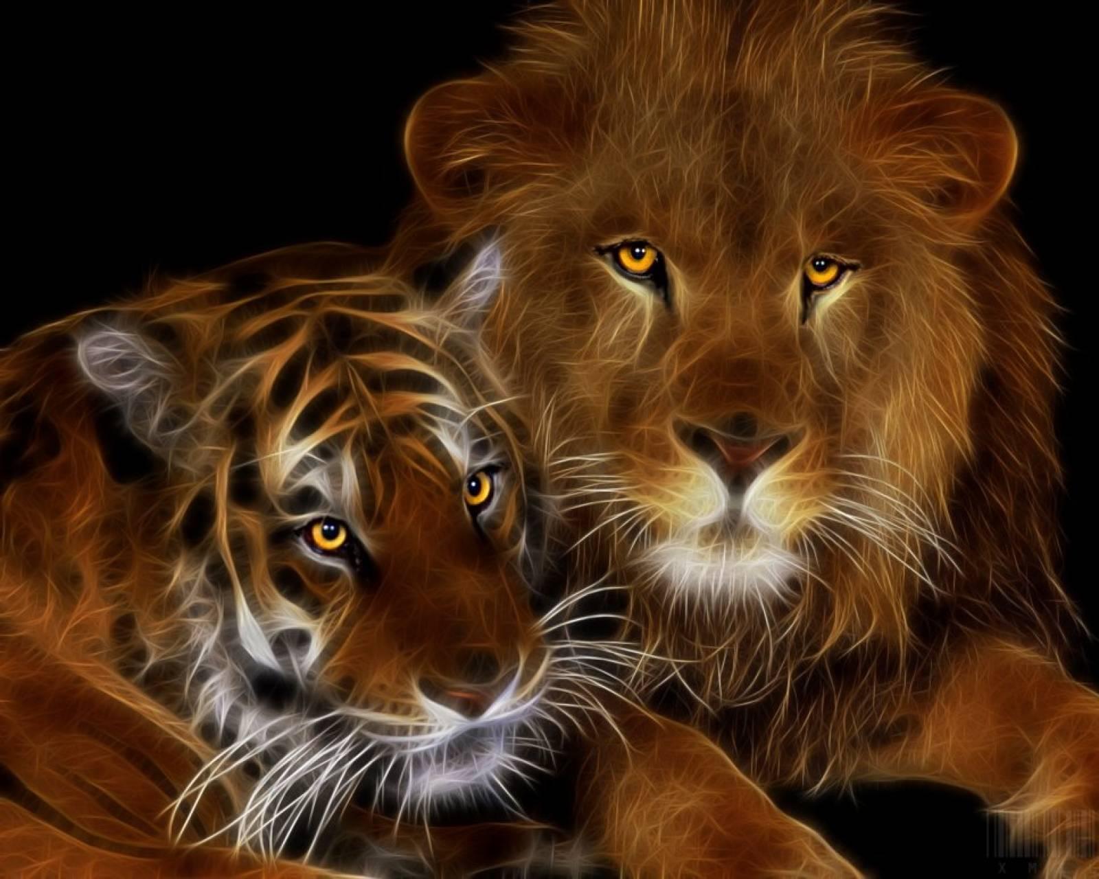 Открытка днем, открытки львы и тигры