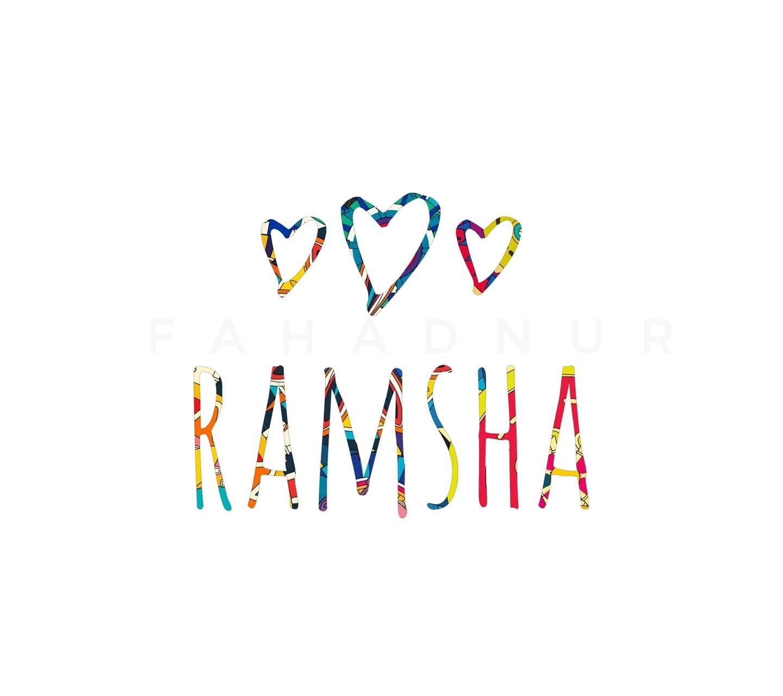 Ramsha - Name Art