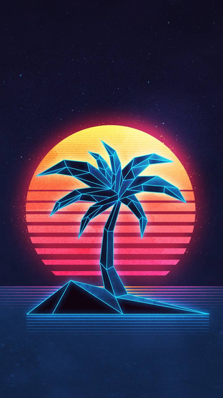 Synth wave Palm