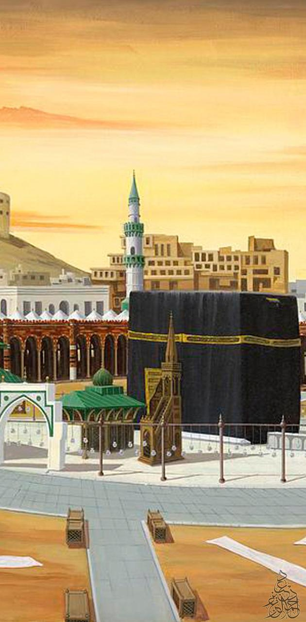 Holy mosque drawing