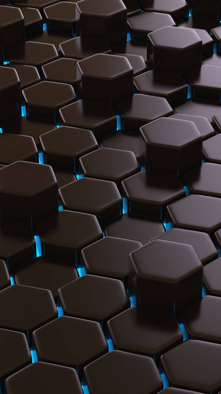 Blue Polygons