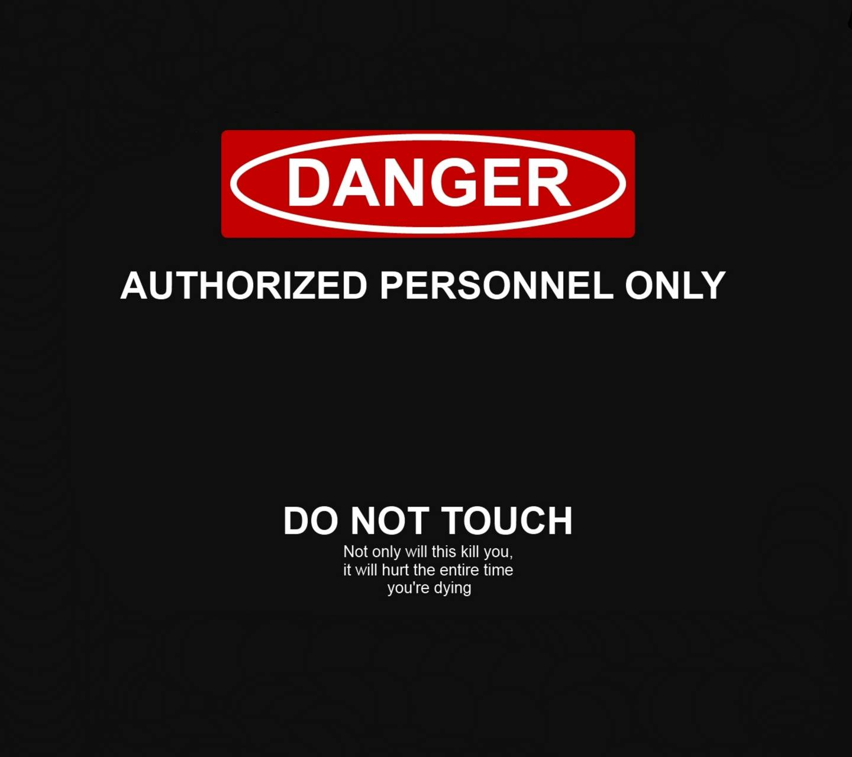 Danger Lock Screen