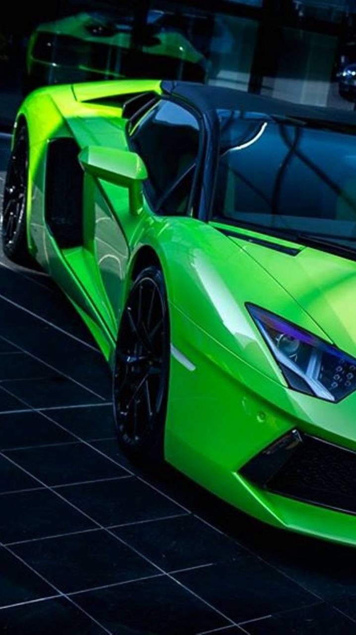 Green Aventador