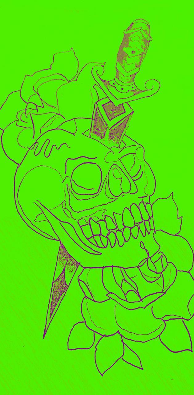 Skull rose dagger