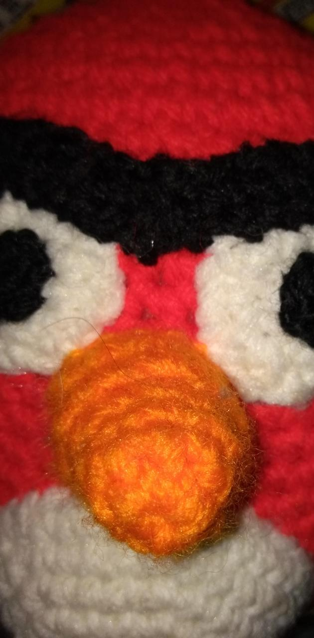 Angry knit bird