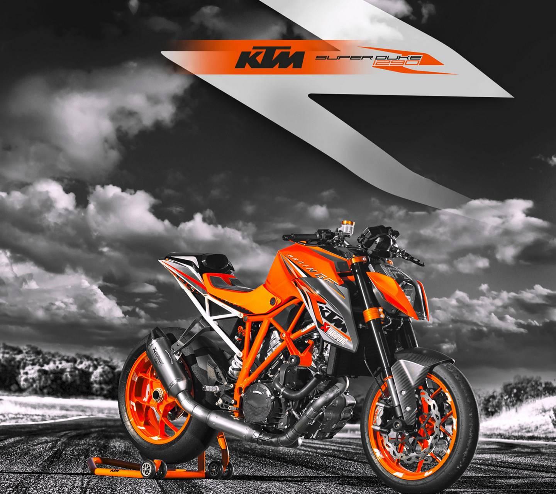 Orange KTM Bike