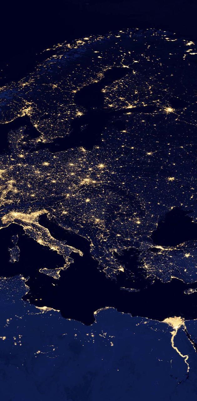Europe Asia At Night