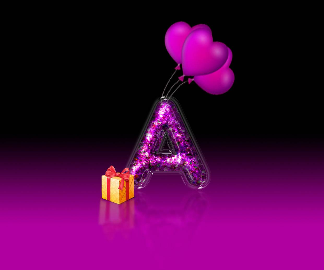 Letter A Gift