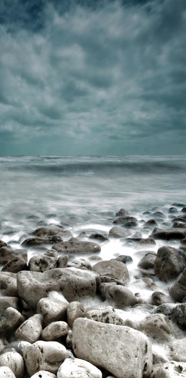 Sea Coast Gloomy