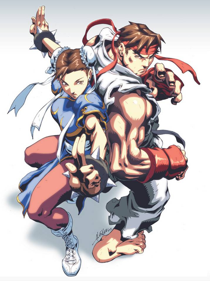 Chun Li And Ryu