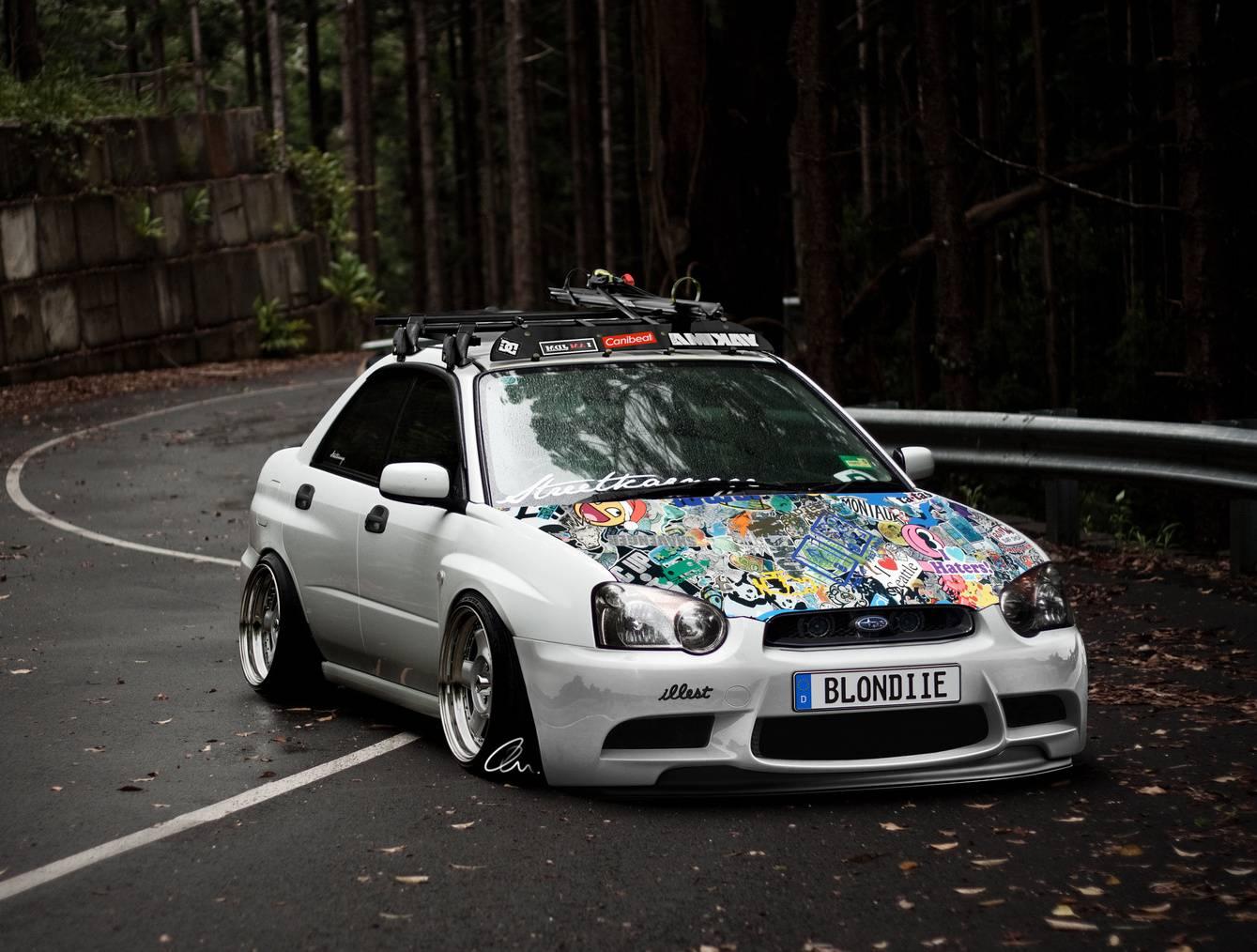 Subaru Sticker Bomb