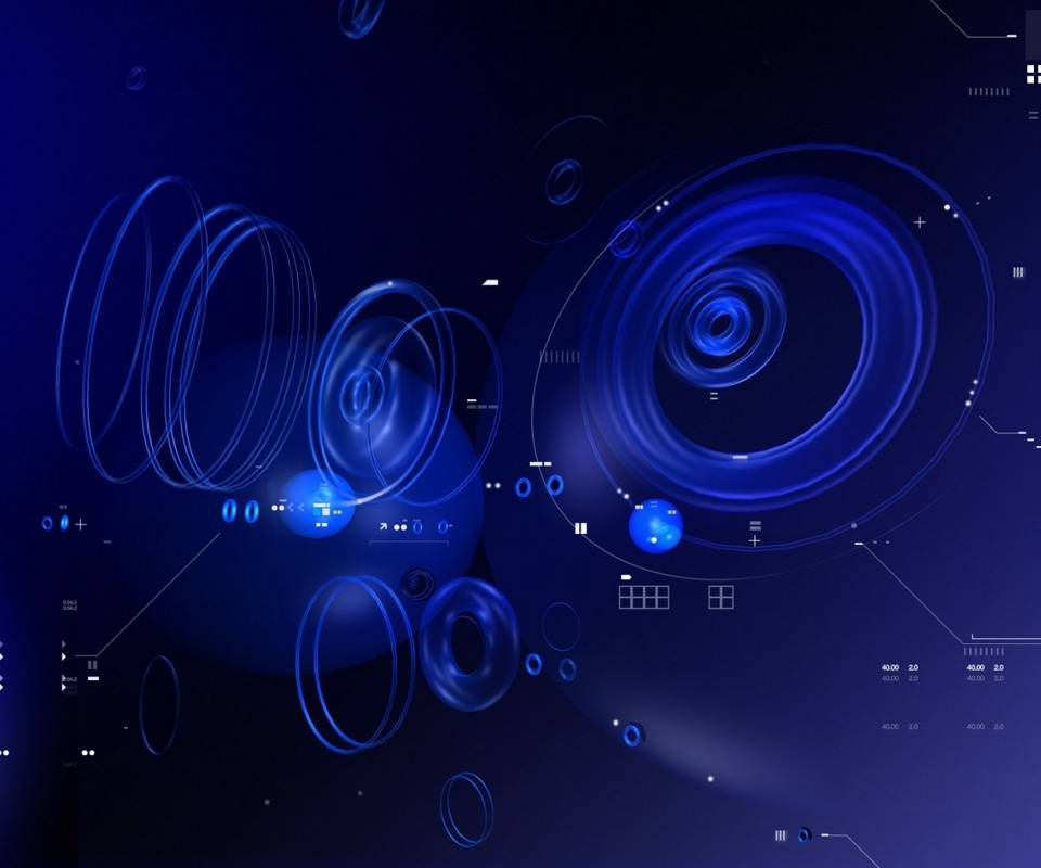 Blue Tech Circles
