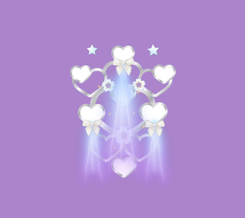 Silver hearts 6