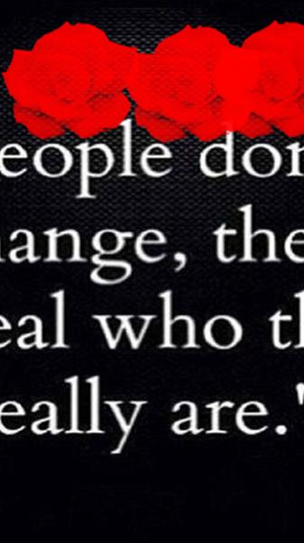 People Dont Change