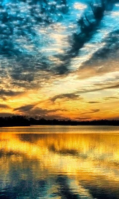 Atardecer Lago
