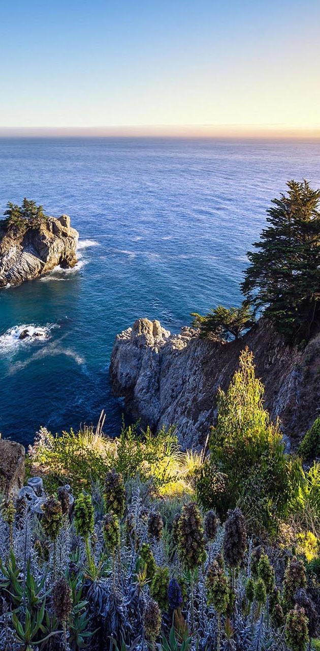 Ocean nature rocks