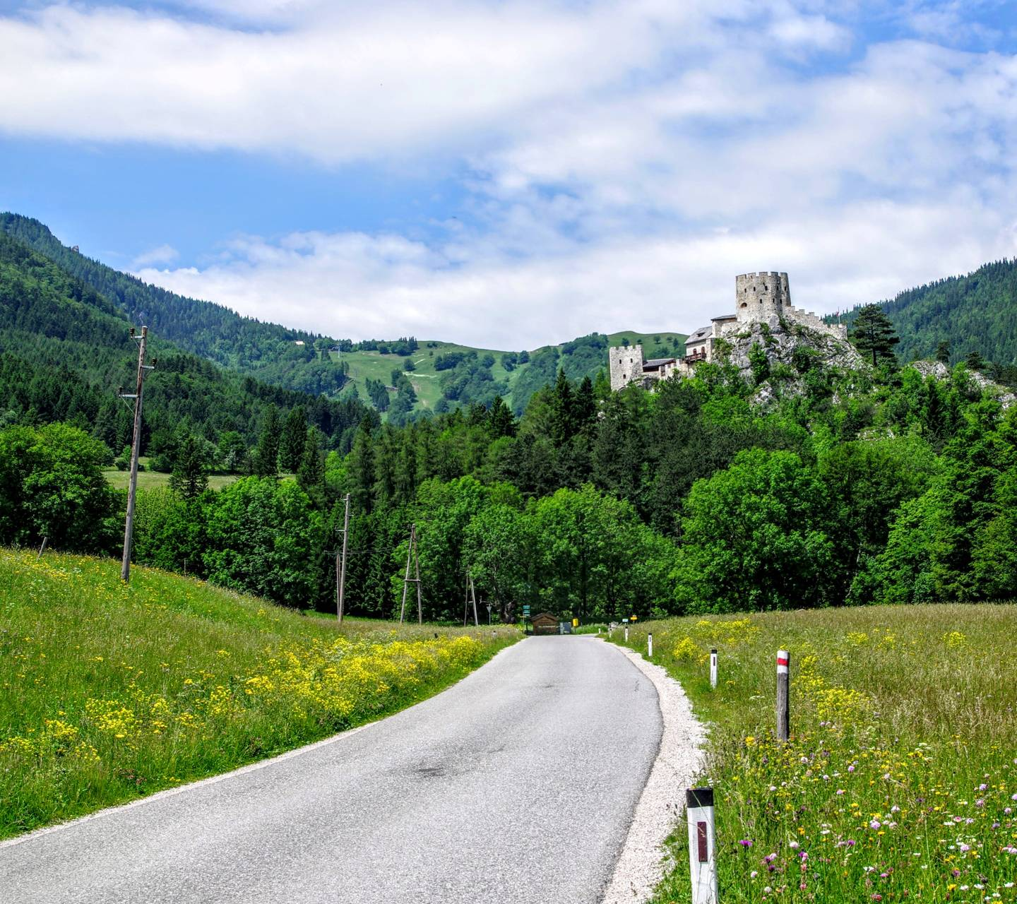 road and a castle