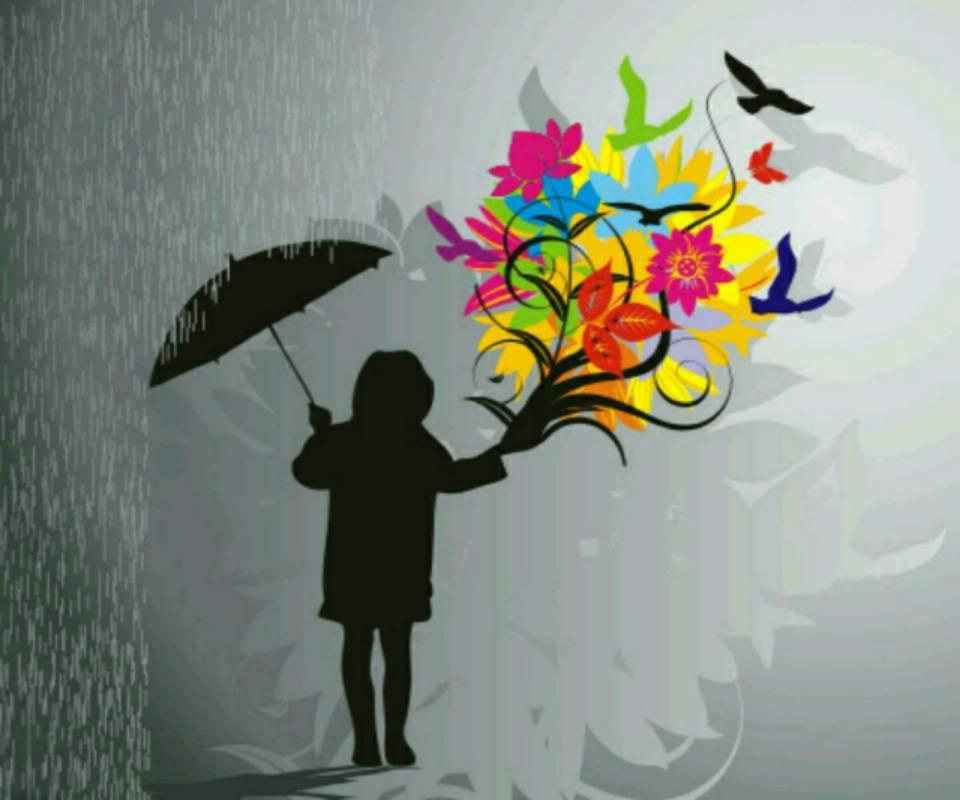 Rain and colours