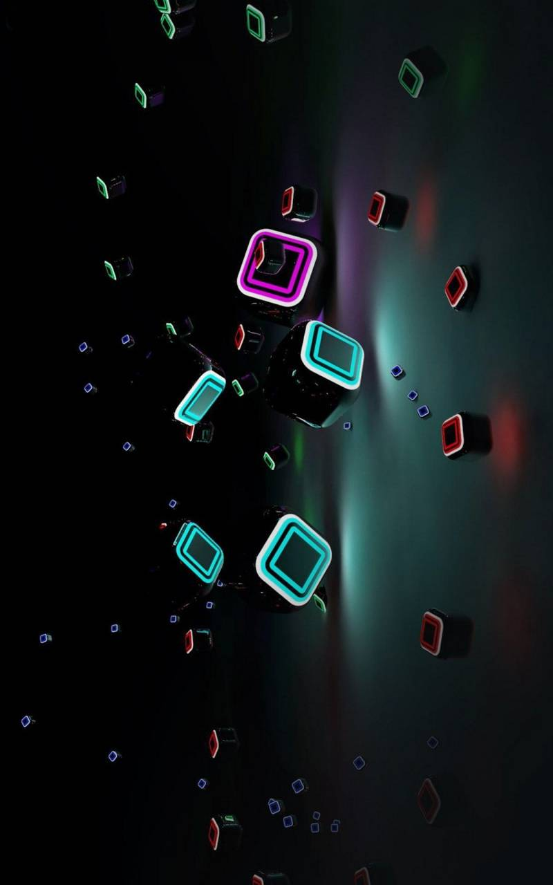 Neon 3D Cubes V1