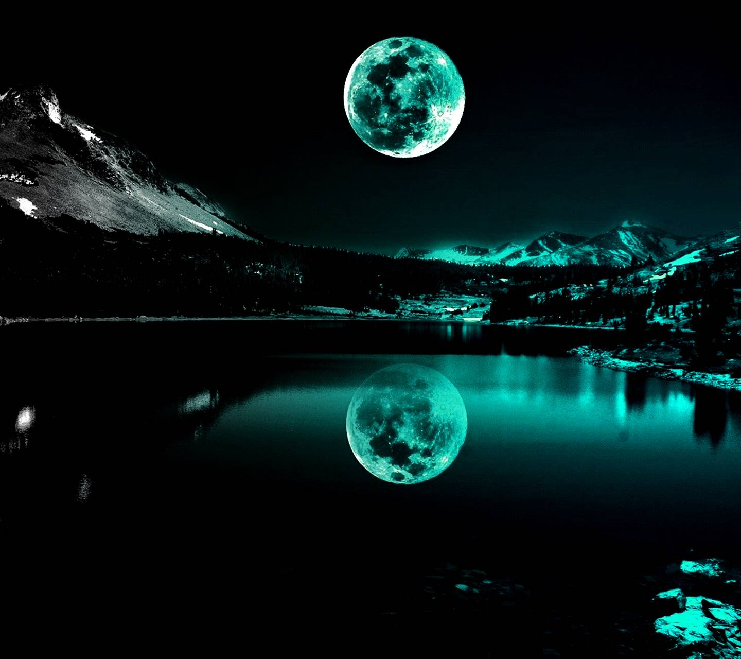 Turquoise Moonlight