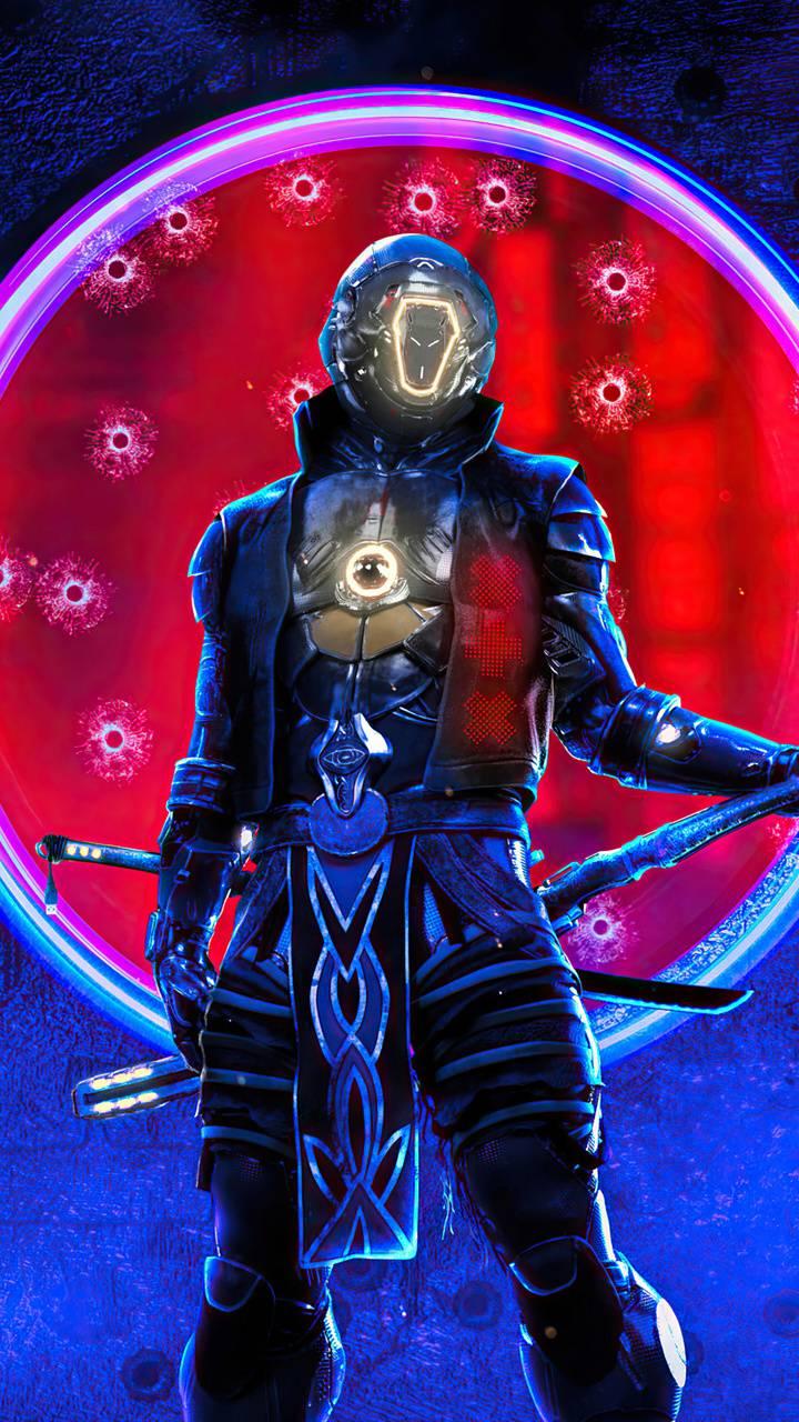 cyberpunk swordman