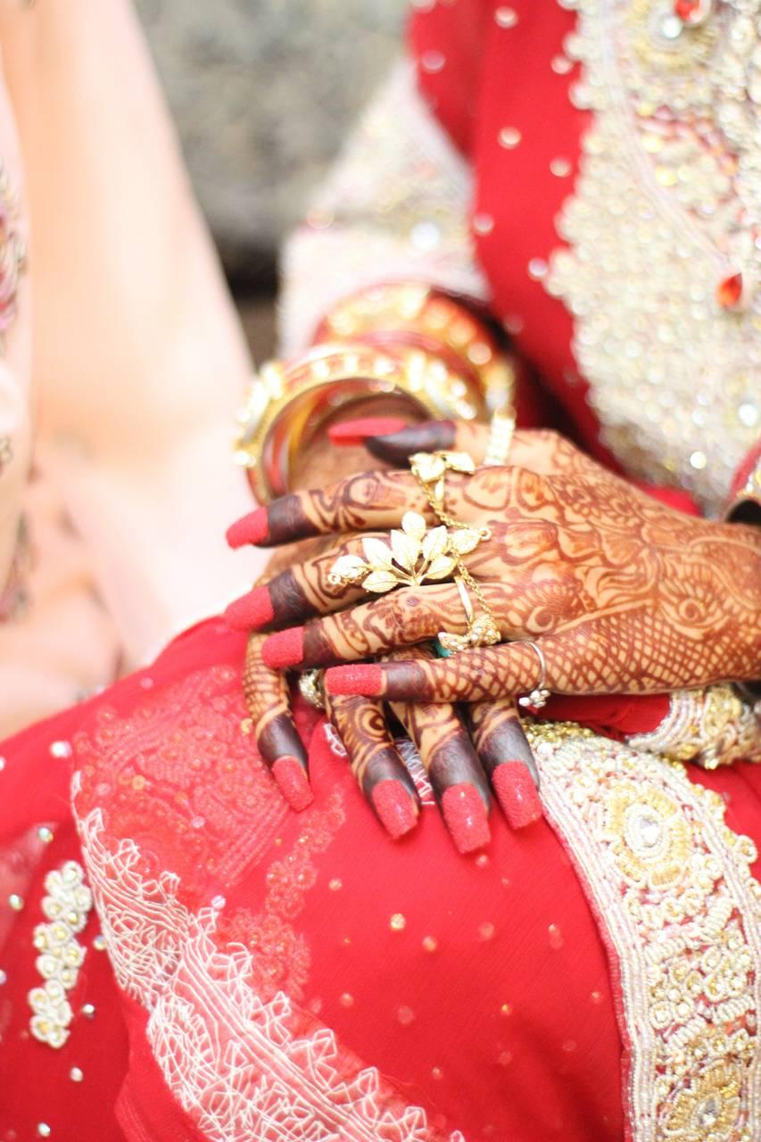 Bride mehandi