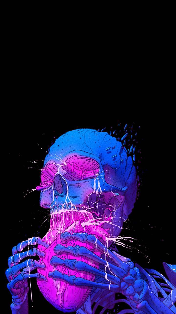 skull eating heart