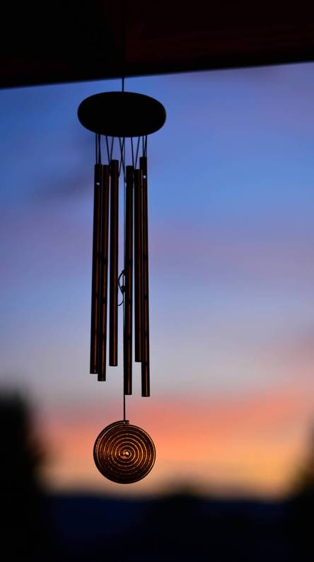 Wind chime sunset