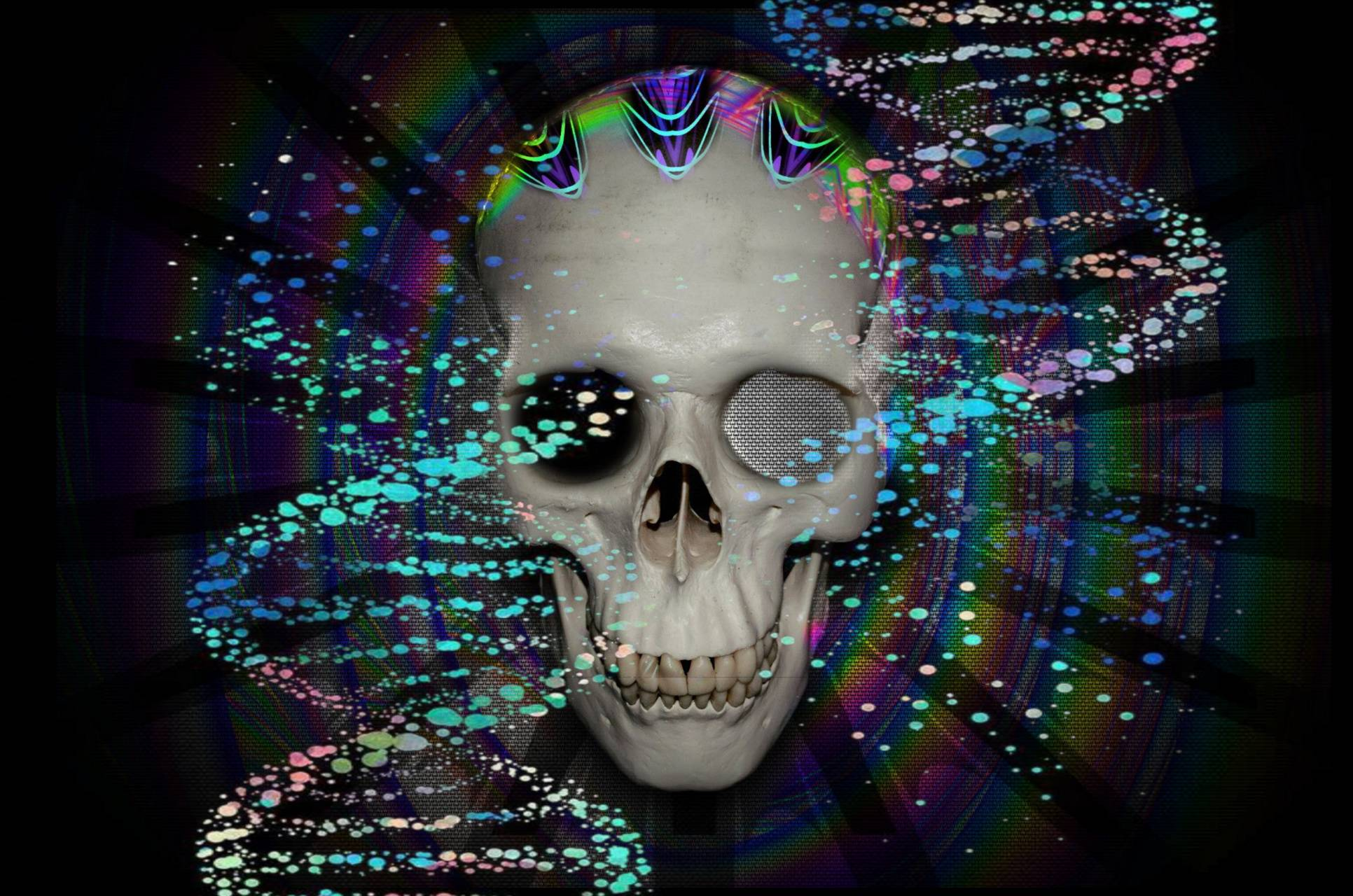 Techno dna skull
