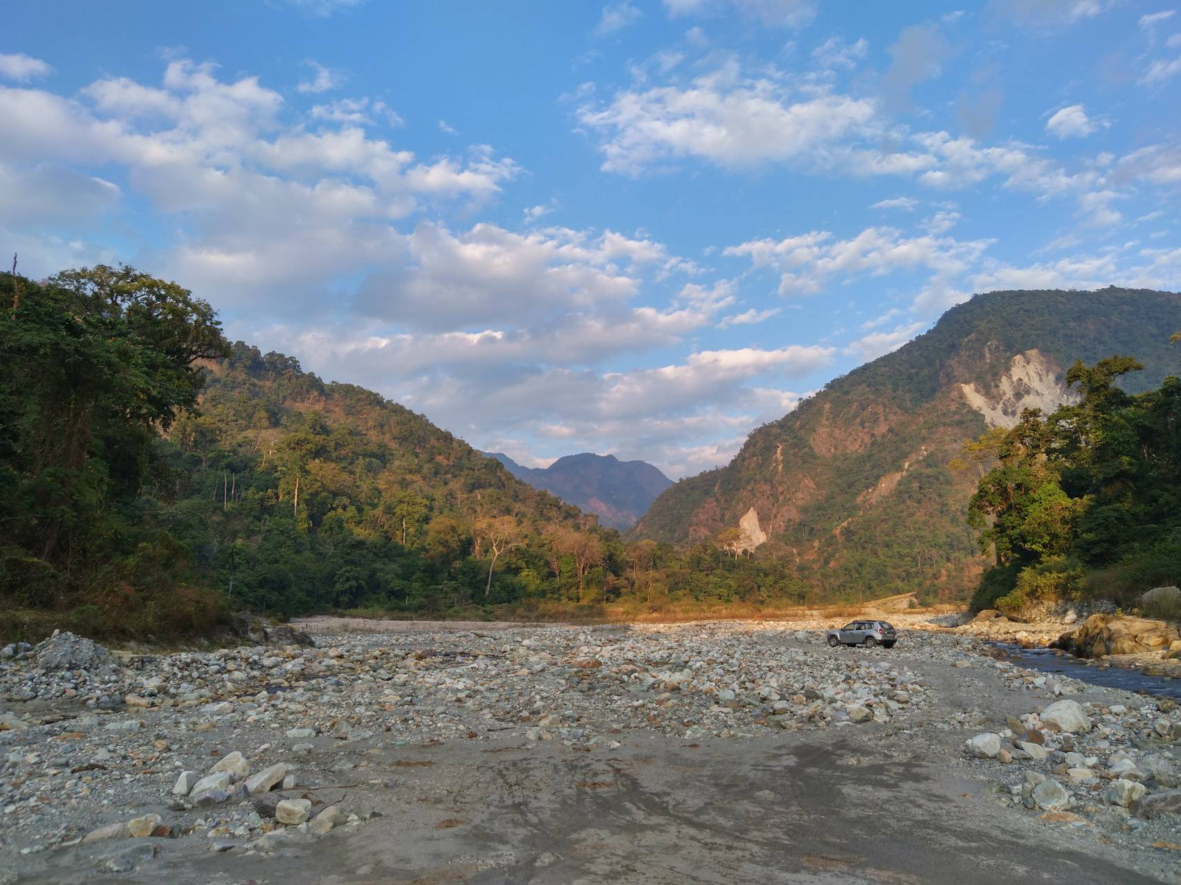 Riverbed view
