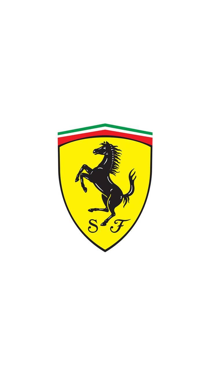 Ferrari Logo White
