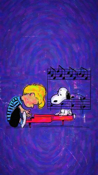 Schroeder and Snoopy