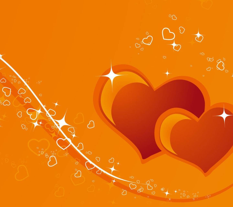 Orange Love Heart