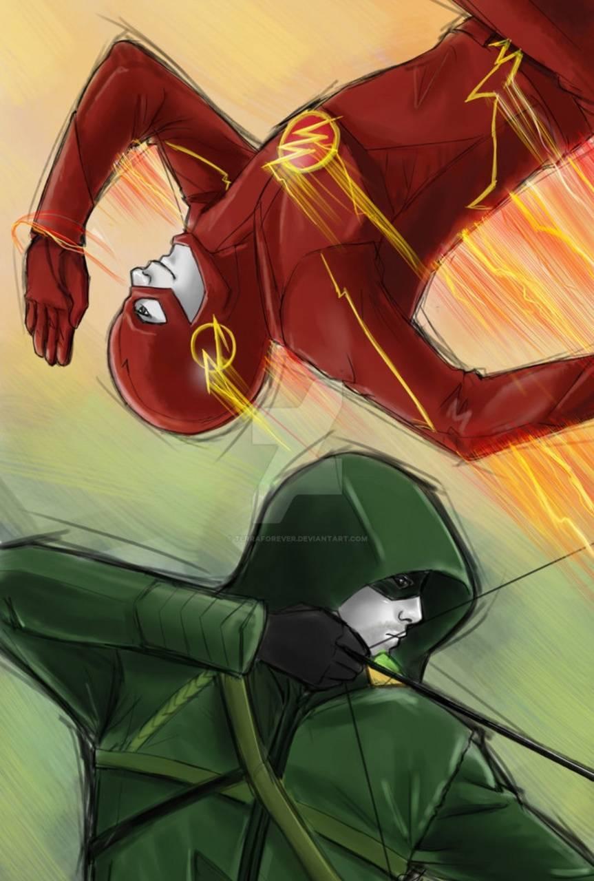 Flash And Arrow Wallpaper By Enjoykinda 2b Free On Zedge