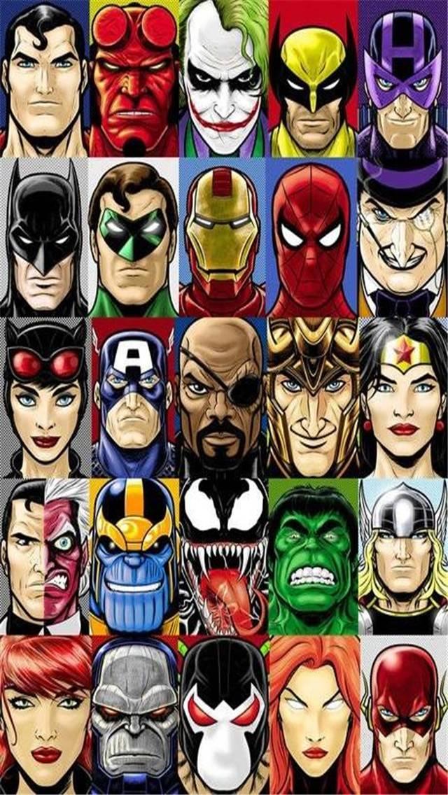 Superheroes Villains