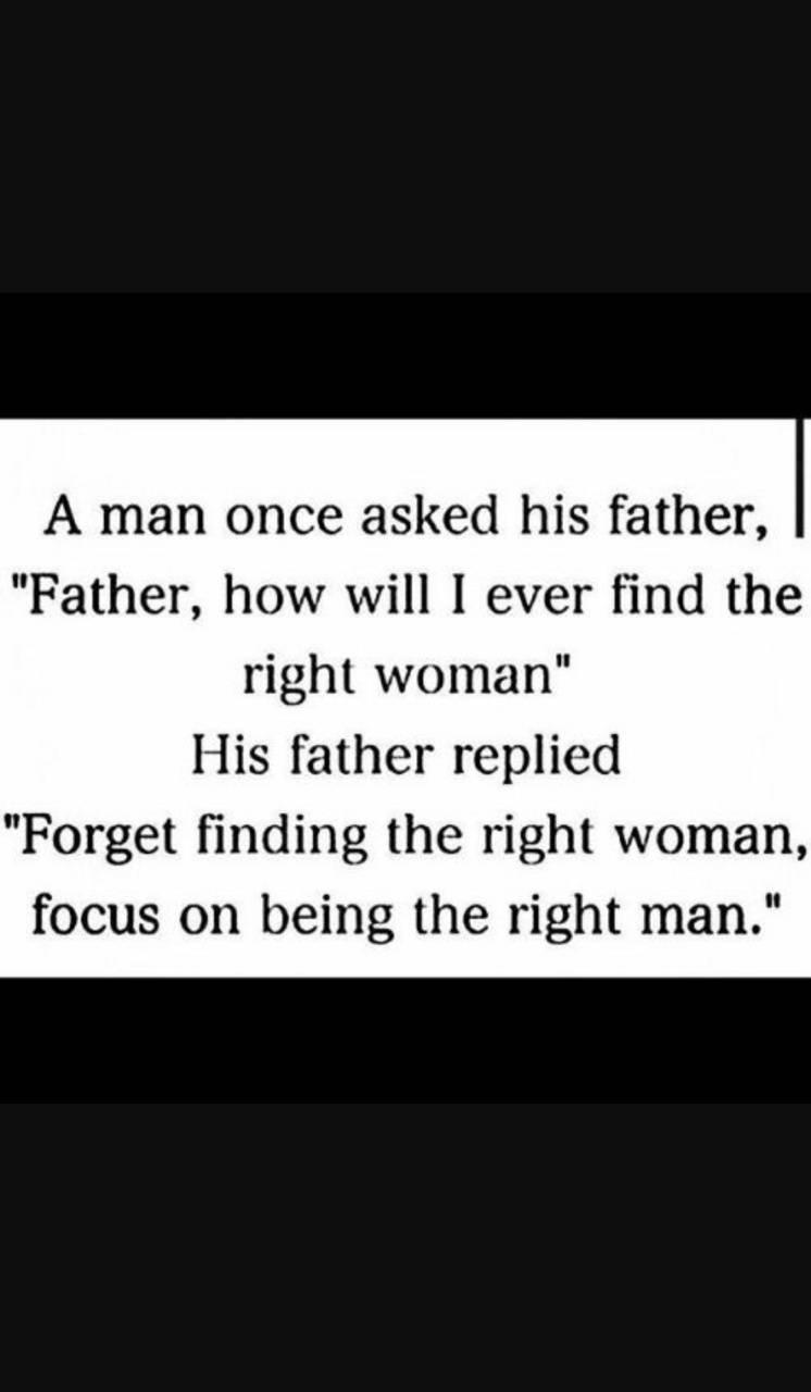 Right man