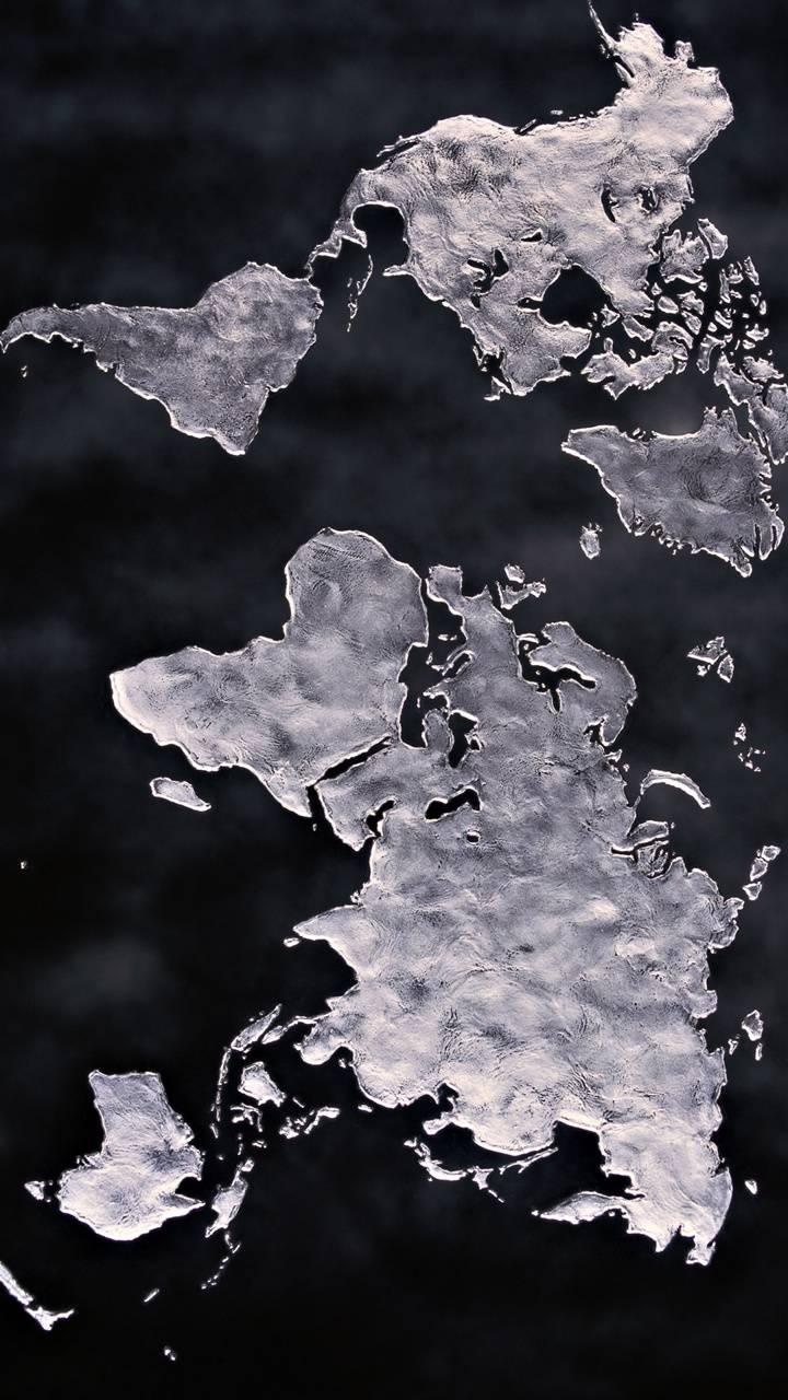 world map ice