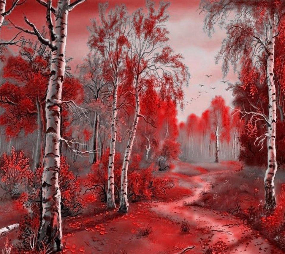 грива красный лес рисунок хотели