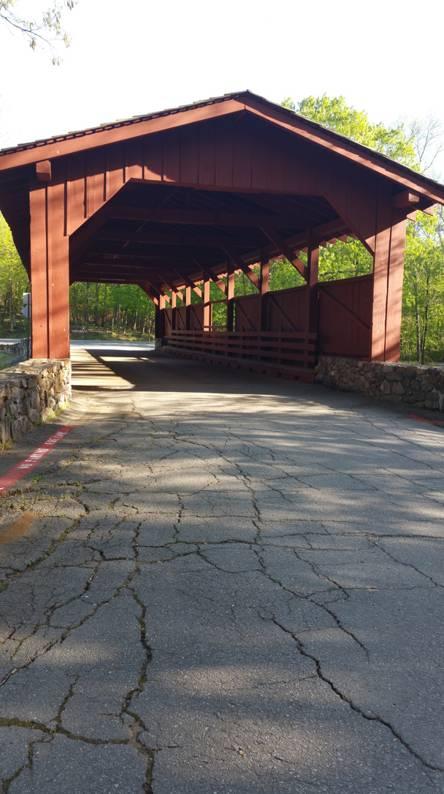 Red Wooden Bridge