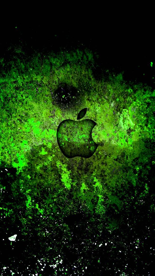 Apple Logo over Rust