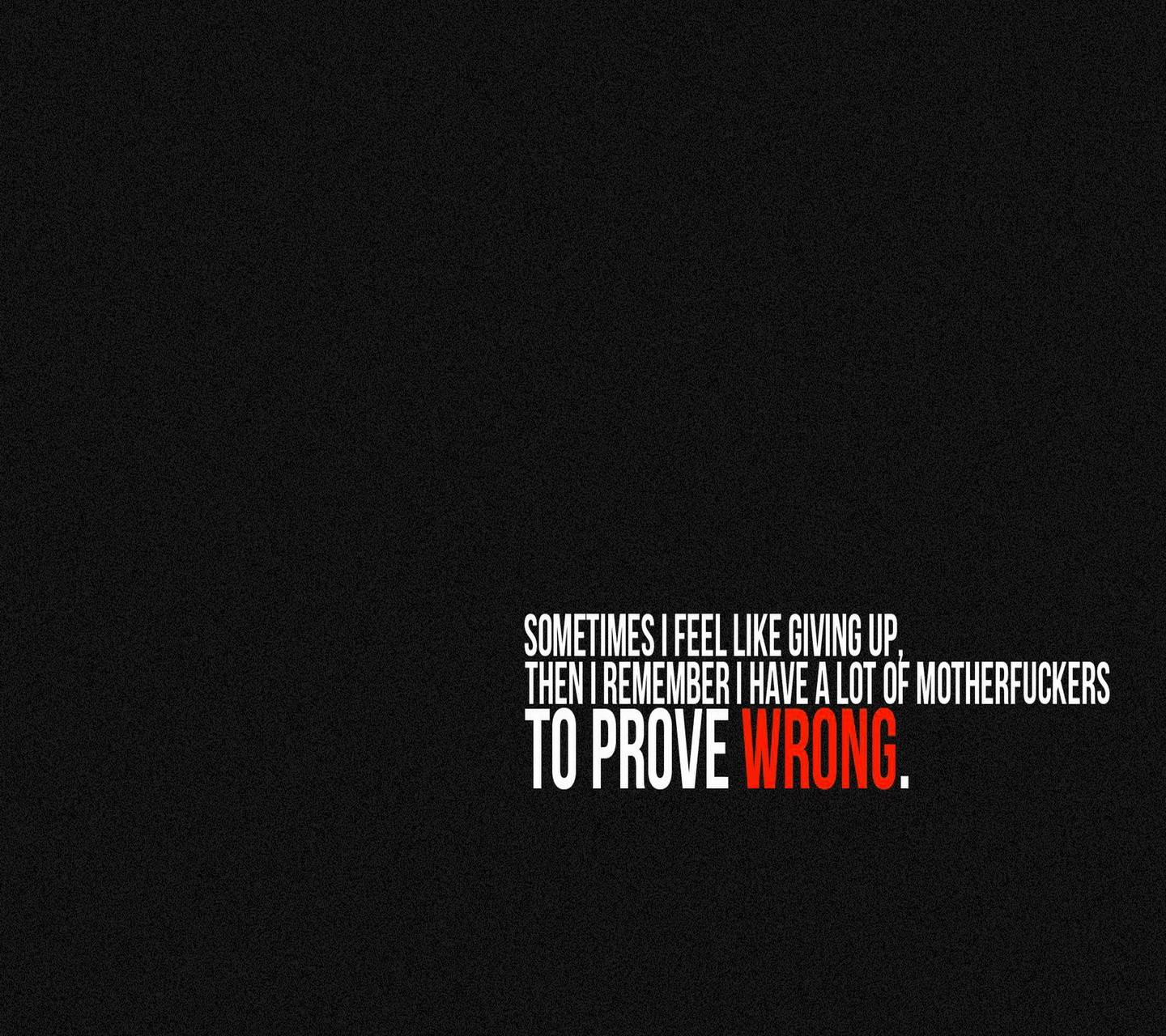 Proove Wrong